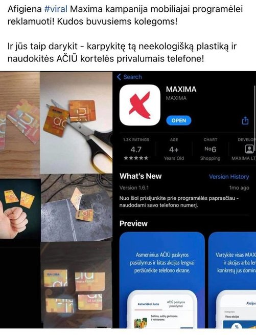 Pasipiktinę ribojimais karpo prekybos centrų lojalumo korteles