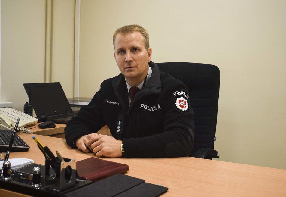 Kauno miesto Panemunės policijos komisariato viršininkas Giedrius Klimavičius Audriaus Bareišio nuotr.