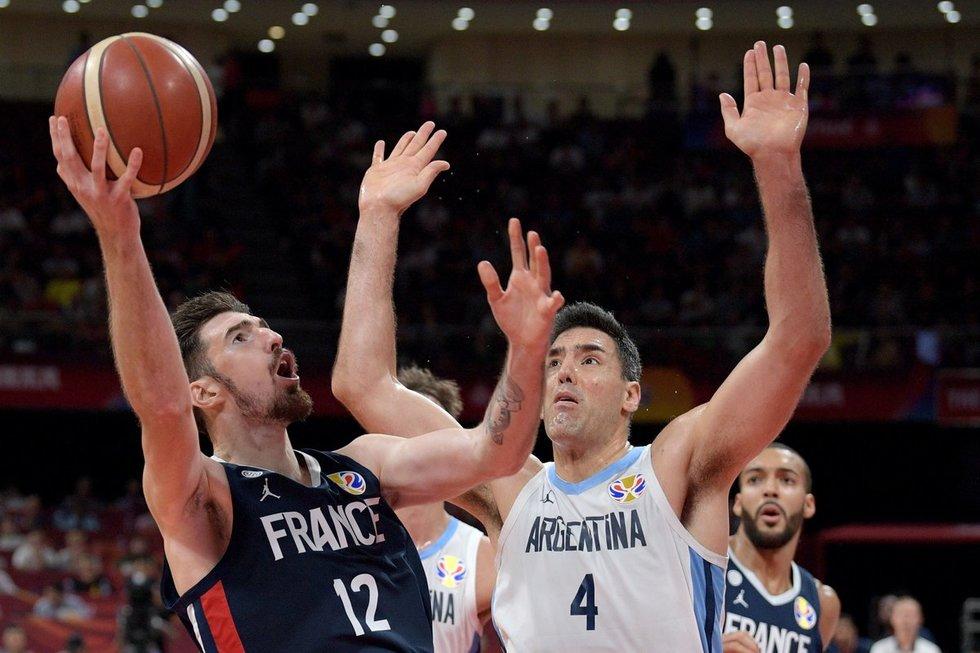 Rungtynių Argentina-Prancūzija akimirka (nuotr. SCANPIX)