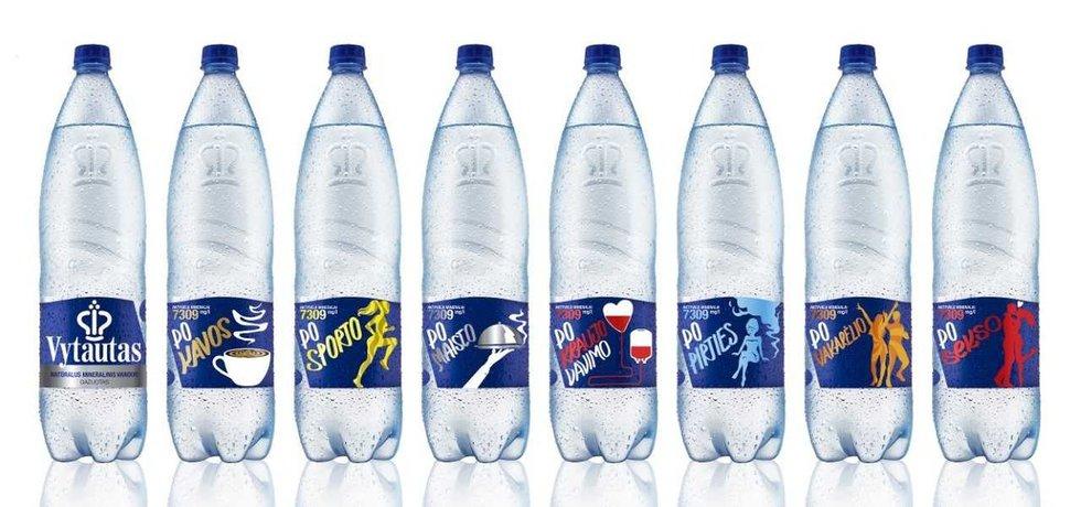 Naujosios mineralinio vandens etiketės