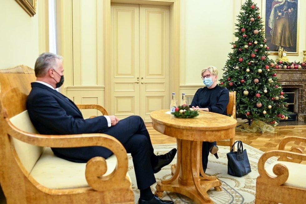 Gitanas Nausėda ir Ingrida Šimonytė (nuotr. Roberto Dačkaus)