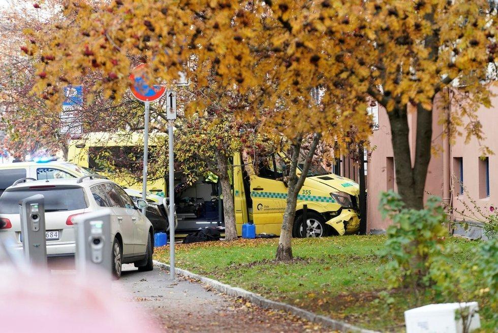 Norvegų policija areštavo vogtu greitosios pagalbos automobiliu siautėjusį asmenį (nuotr. SCANPIX)