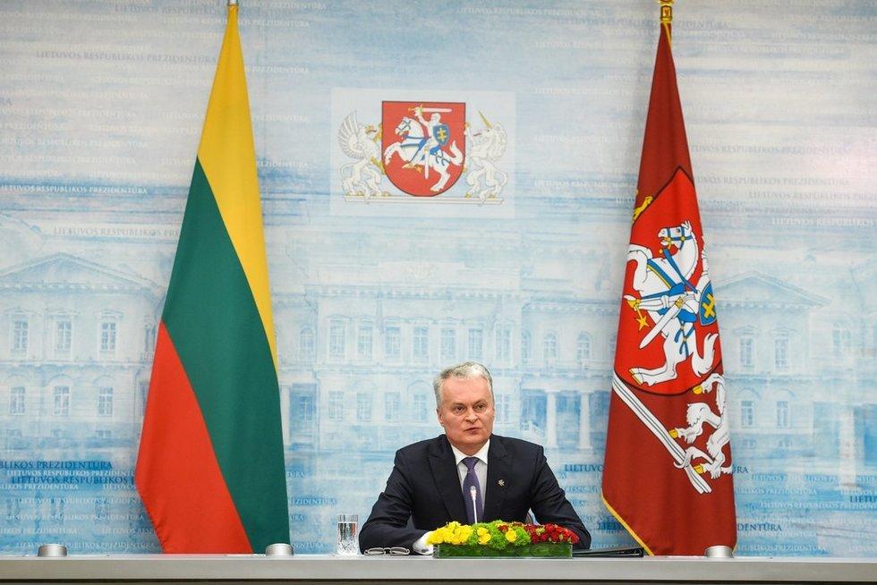 Prezidento Gitano Nausėdos spaudos konferencija (nuotr. Fotodiena/Matas Baranauskas)