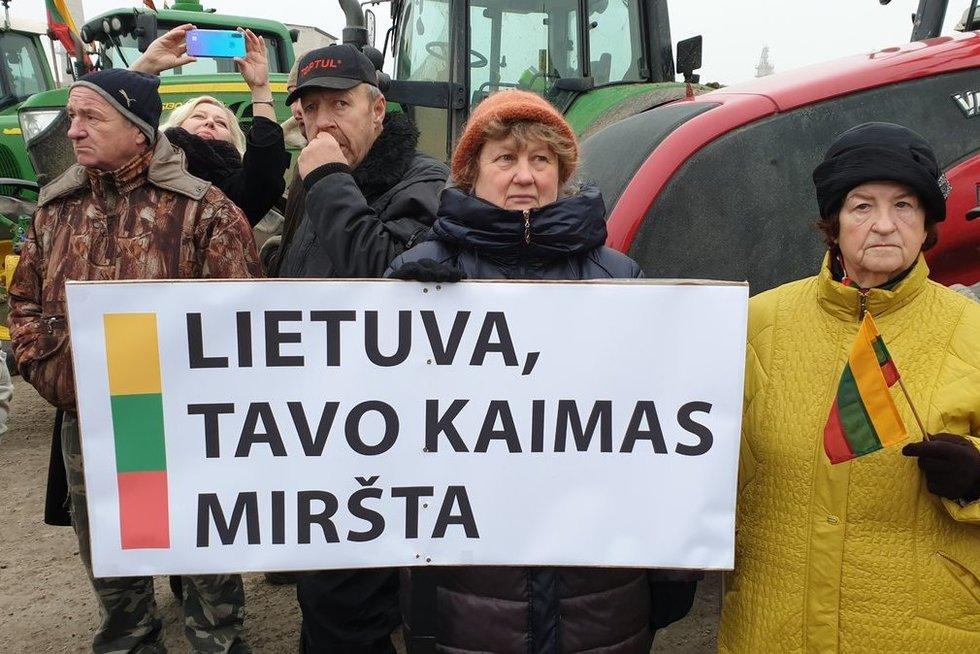 ūkininkų protestas (nuotr. Raimundo Maslausko)
