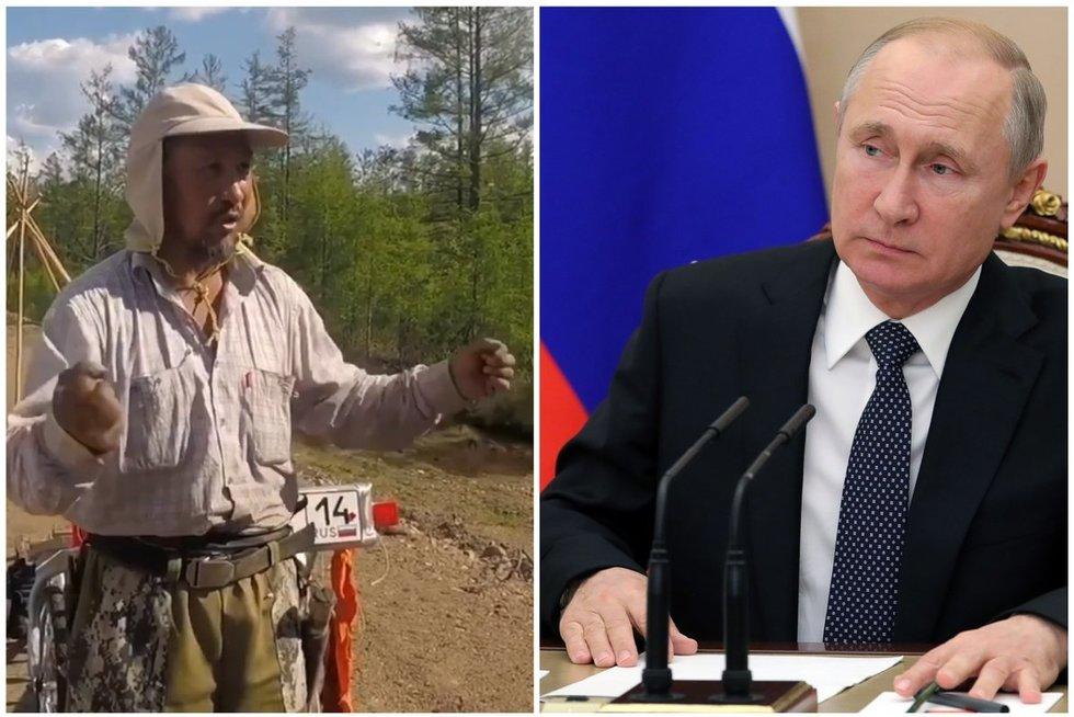 Šamanas iš Sibiro eina pėsčiomis į Maskvą išvaryti Putino (nuotr. SCANPIX) tv3.lt fotomontažas