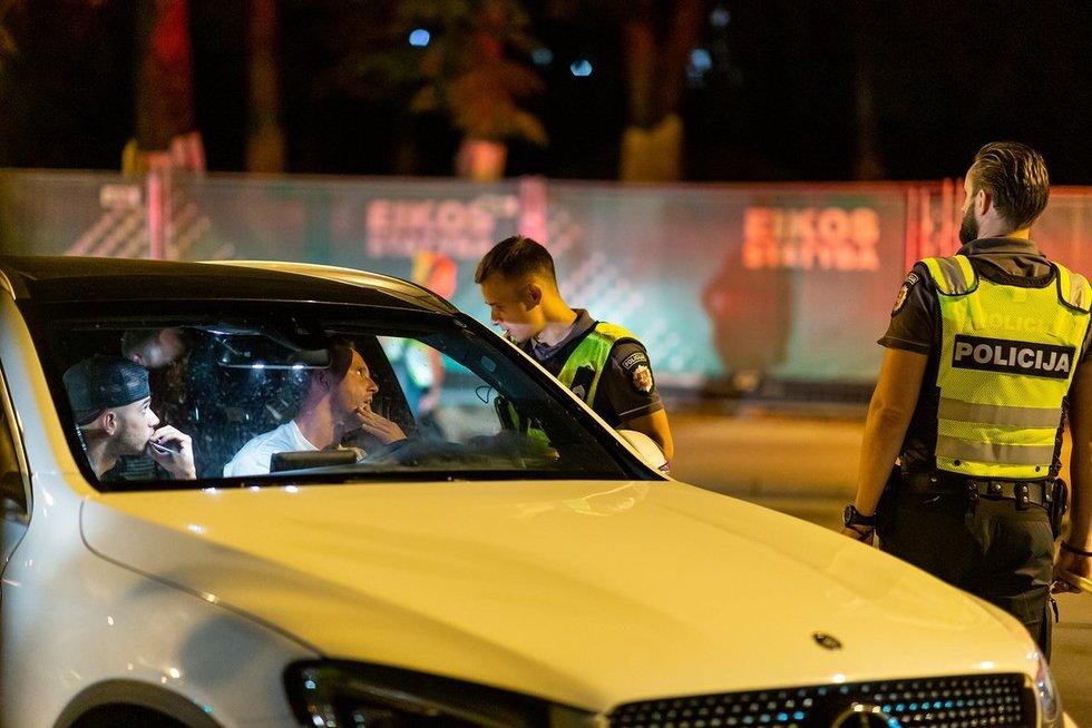Vilniuje naktį iš šeštadienio į sekmadienį įkliuvo devyni girti vairuotojai (nuotr. Broniaus Jablonsko)
