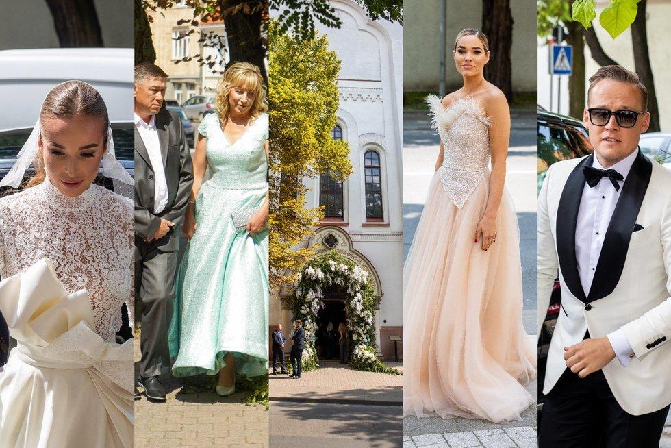 Viktorija Siegel ir Lauryno Suodaičio vestuvių svečiai (tv3.lt fotomontažas)
