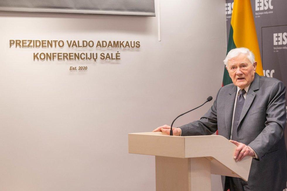 Rytų Europos studijų centre atidaryta Prezidento V. Adamkaus vardo konferencijų salė (nuotr. asm. archyvo)