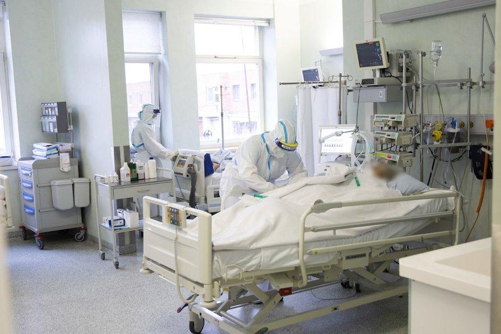 Pacientas lovoje. Kauno klinikų nuotr.