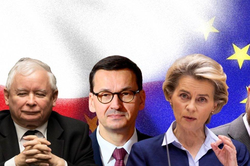 DIENOS PJŪVIS. Lenkijos ir ES kaktomuša – kaip tai gali atsiliepti Lietuvai?  (tv3.lt fotomontažas)