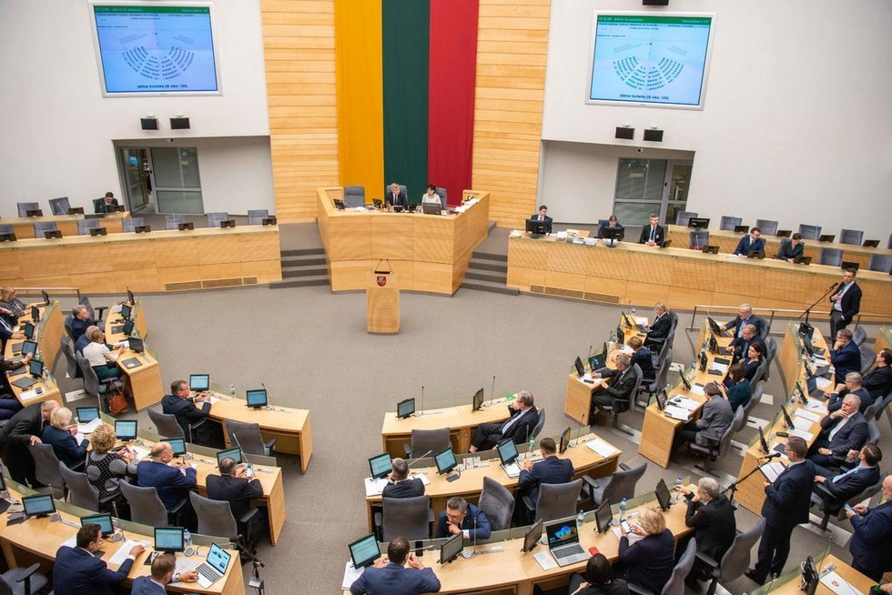 Seimo posėdis (nuotr. Fotodiena/Justino Auškelio)