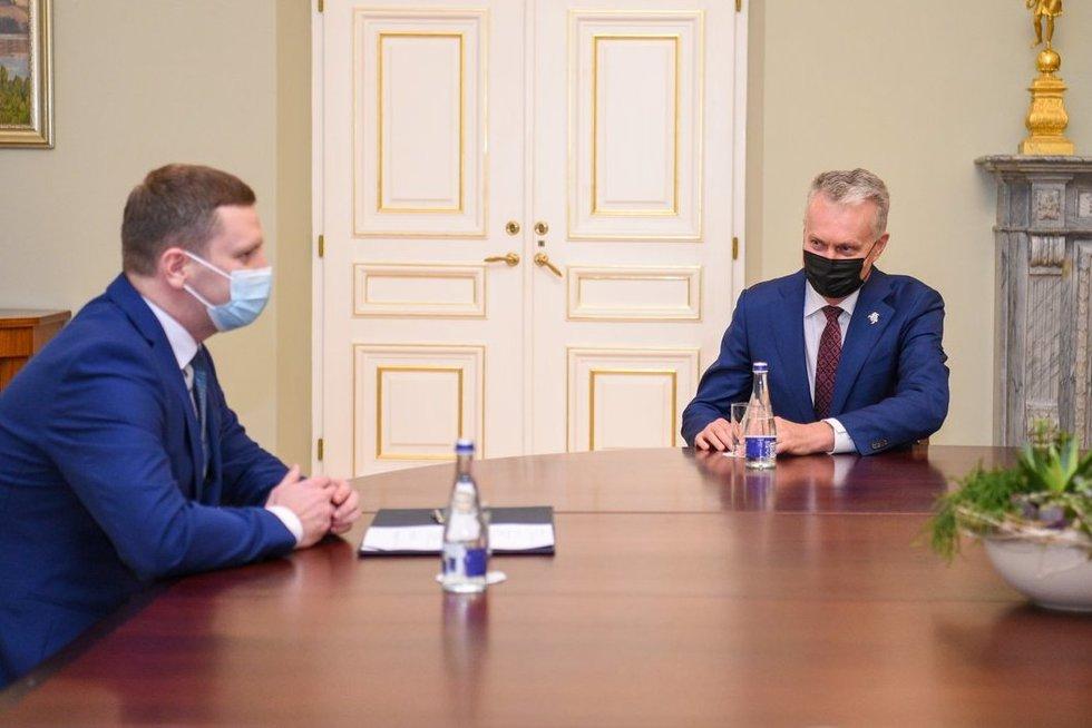 Kandidatas į kultūros ministrus S. Kairys susitiko su G. Nausėda (nuotr. Roberto Dačkaus)