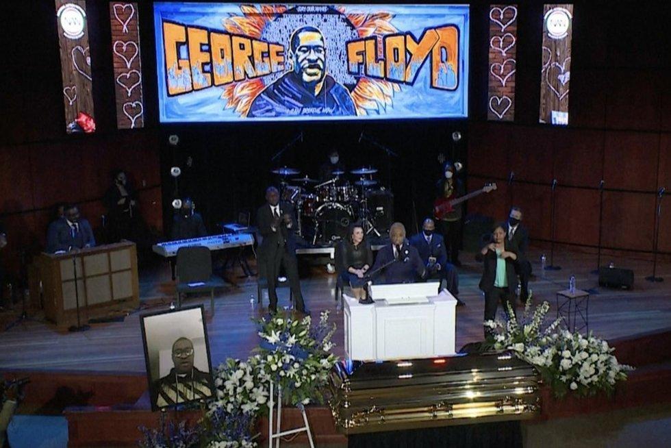 Georg'o Floyd'o laidotuvės (nuotr. stop kadras)