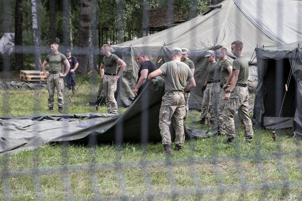 Rūdninkų poligonas, migrantai (Paulius Peleckis/Fotobankas)