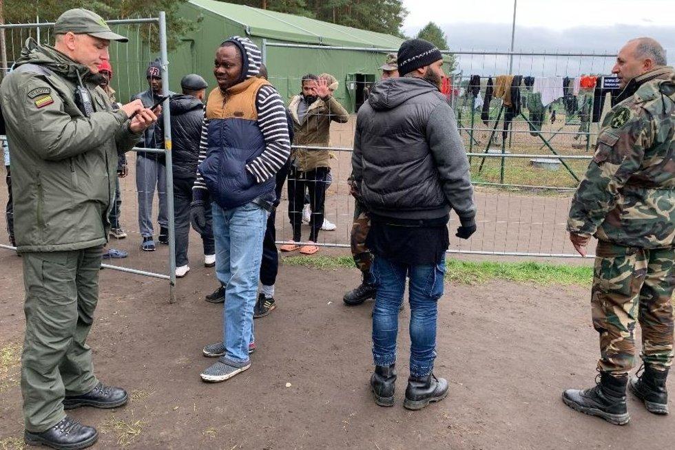 Druskininkų pasienio užkarda, migrantų stovykla (nuotr. tv3.lt)