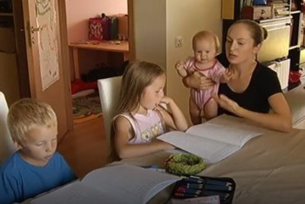 mokymas namuose (nuotr. TV3)