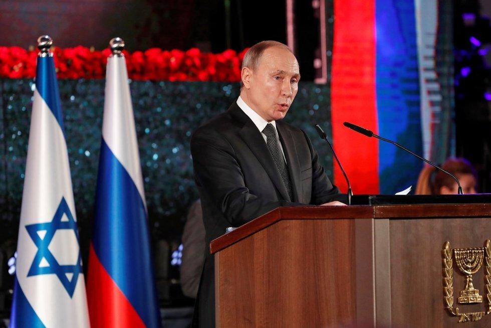 V. Putinas lankosi Izraelyje (nuotr. SCANPIX)