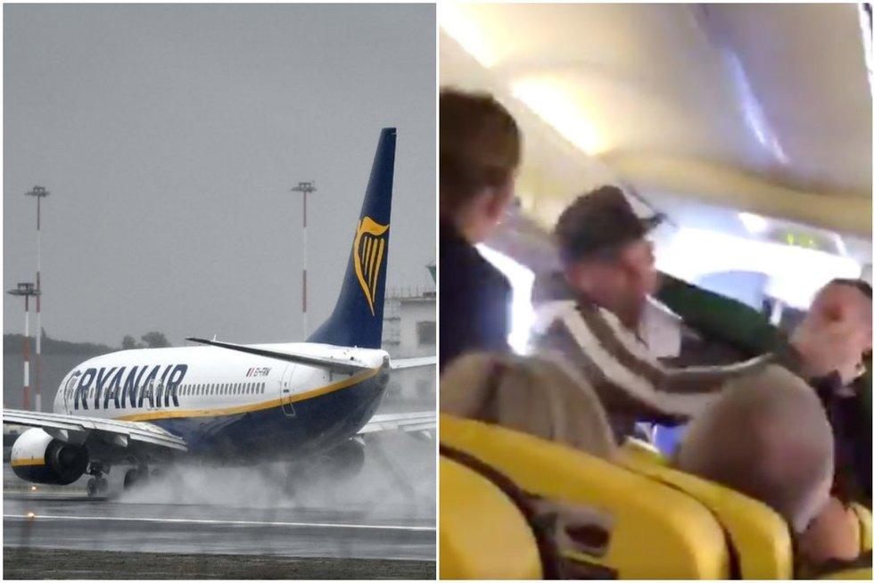 """""""Ryanair"""" lėktuve – muštynės: krauju aptaškė net sienas"""