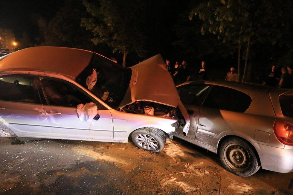 Masinė avarija Gabijos gatvėje Vilniuje (nuotr. Broniaus Jablonsko)