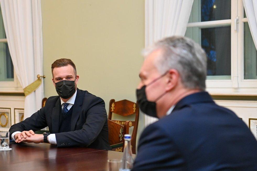 Gabrielius Landsbergis ir Gitanas Nausėda (nuotr. Roberto Dačkaus)