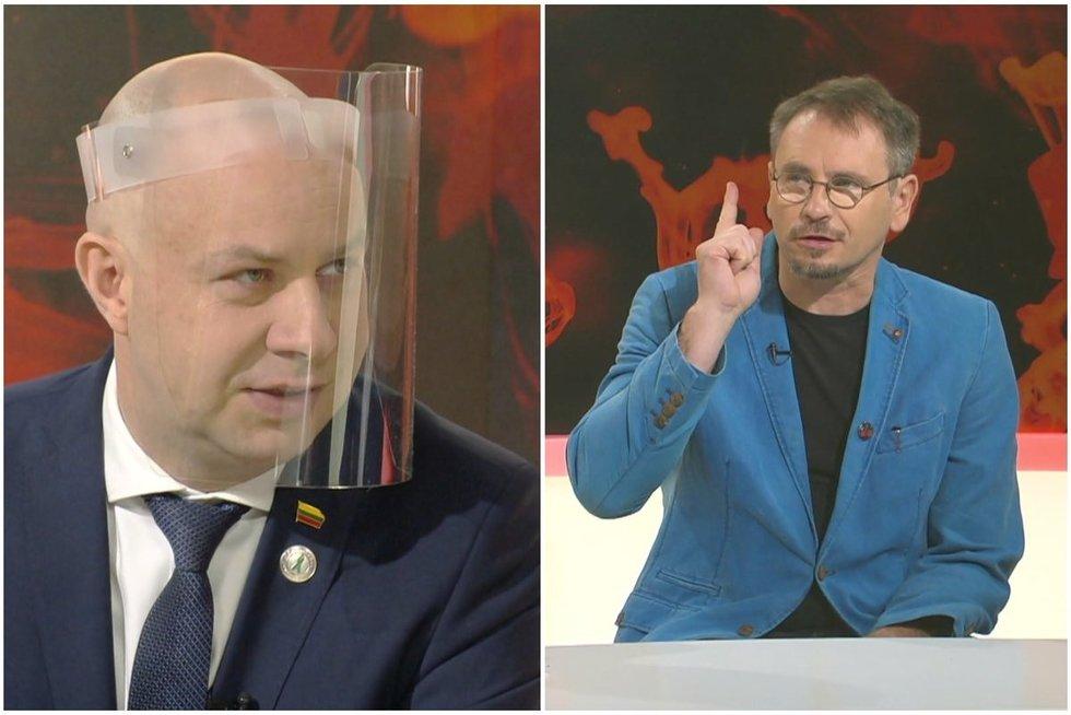 A. Veryga ir M. Mikutavičius (tv3.lt koliažas)
