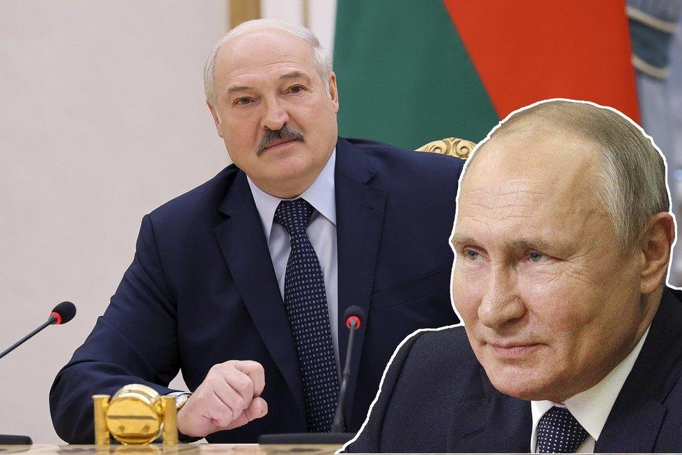 Skubus susitikimas: Lukašenka vyksta pas Putiną prašyti pinigų ir pagalbos (nuotr. SCANPIX) tv3.lt fotomontažas