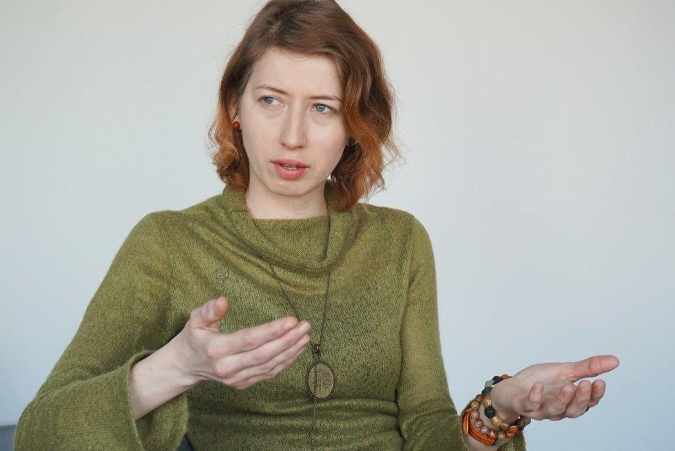 Renata Petrėnaitė Užimtumo tarnyboje dirba kaip neįgaliųjų įdarbinimo specialistė, karjeros konsultantė ir atvejo vadybininkė. (Aurelijos Babinskienės nuotr.)