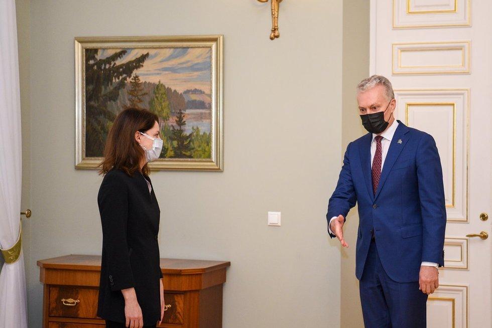 Kandidatė į ministres M. Navickienė susitiko su prezidentu (nuotr. Roberto Dačkaus)