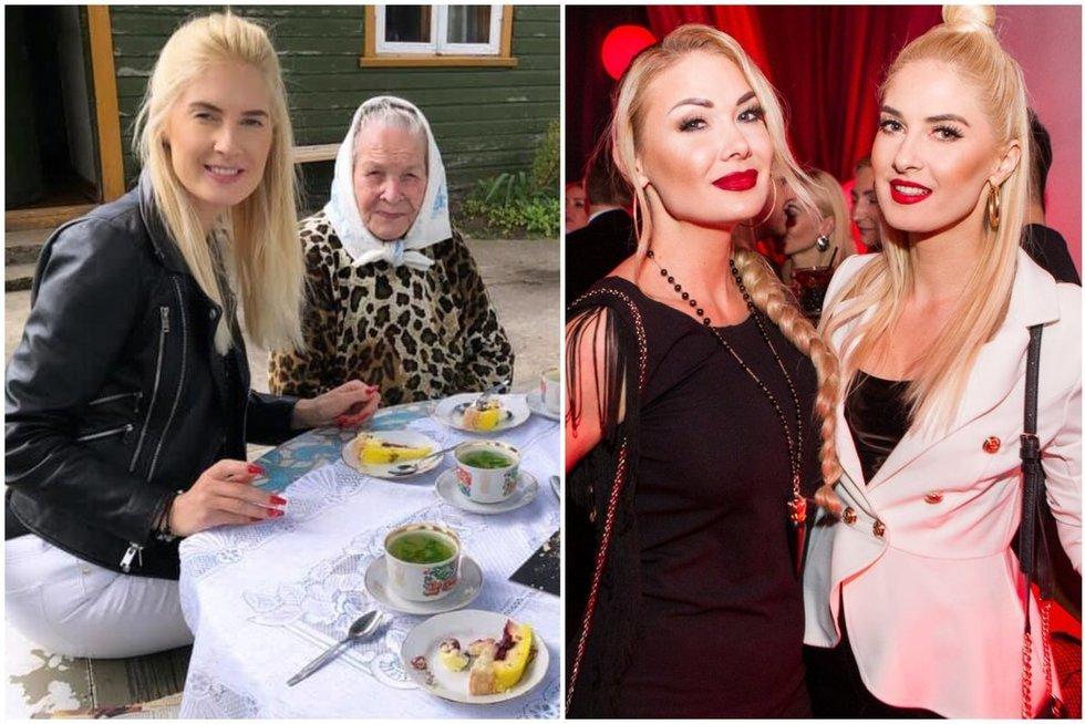 Kristina Ivanova ir Natalija Bunkė su močiute (tv3.lt fotomontažas)