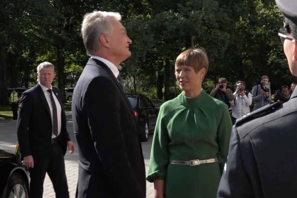 Nausėdos ir Estijos prezidentės susitikimas (nuotr. stop kadras)