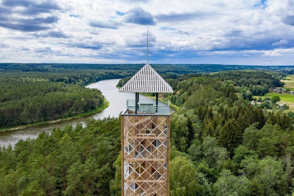 Apžvalgos bokštas Birštone (nuotr. Organizatorių)