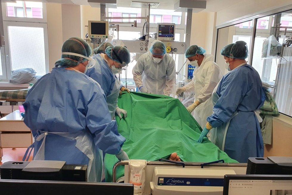 Santaros klinikų COVID-19 skyrius (Santaros klinikų nuotr.)