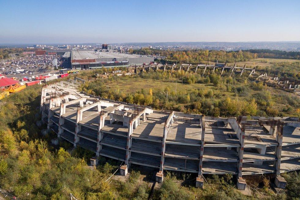 Nepastatytas stadionas Vilniuje (nuotr. tv3.lt)