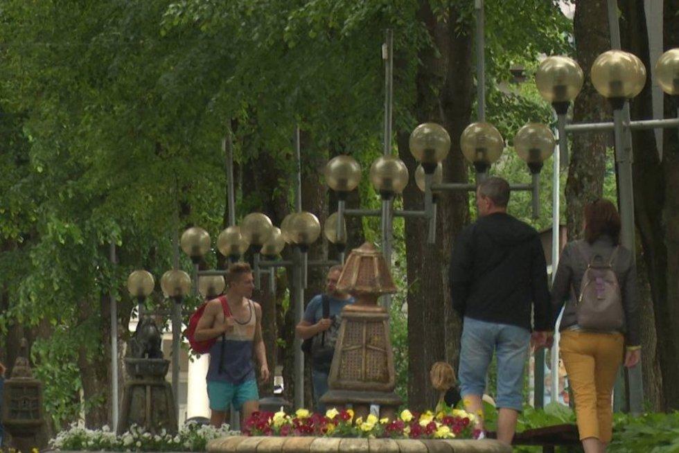 Vaizdai iš Druskininkų miesto