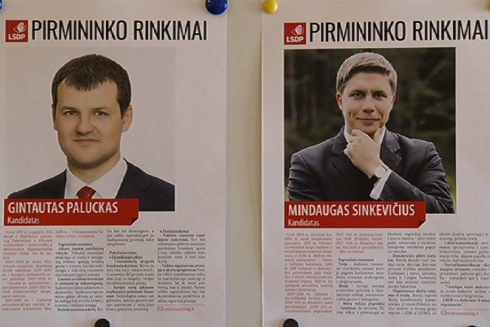 Kandidatai į socialdemokratų partijos pirmininkus (nuotr. TV3)
