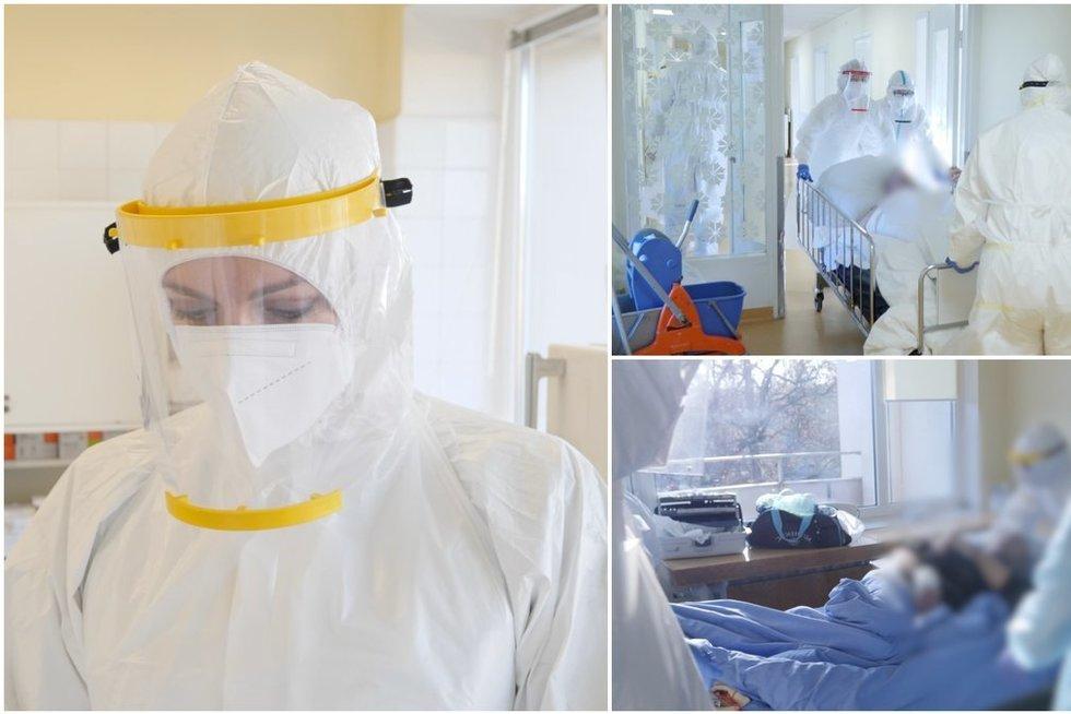 Vaizdai iš Vilniaus klinikinės ligoninės Covid-19 reanimacijos: medikai įsitikinę – pildosi baisiausias scenarijus (tv3.lt koliažas)
