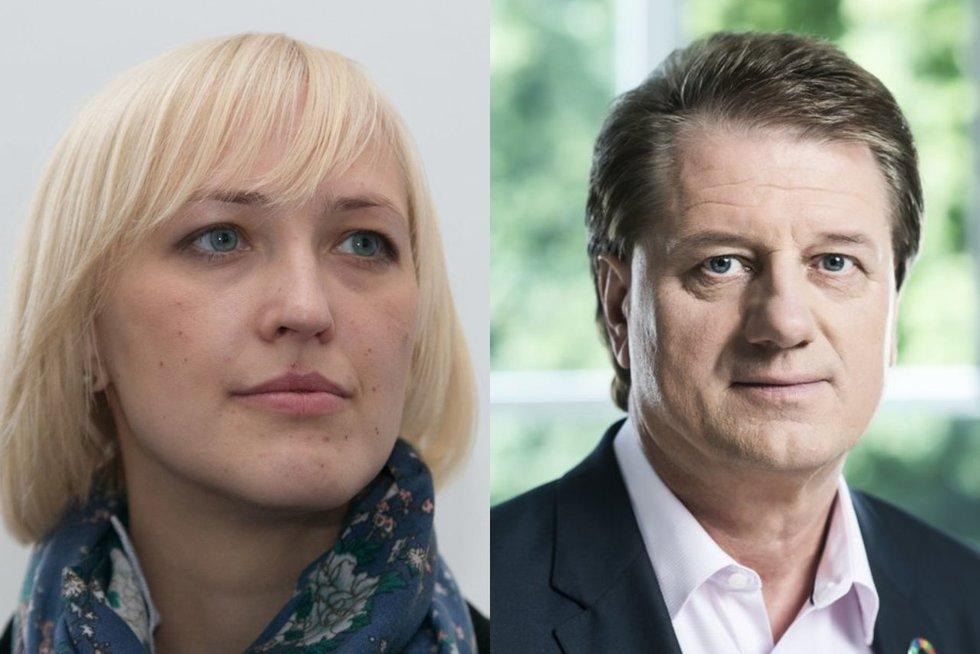 Paulė Kuzmickienė ir Saulius Čaplinskas (tv3.lt fotomontažas)
