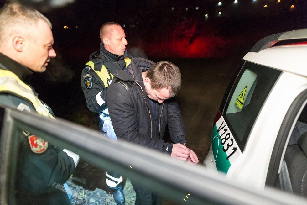 BMW vairuotojo gaudynės Čiobiškio gatvėje nuotr. Broniaus Jablonsko