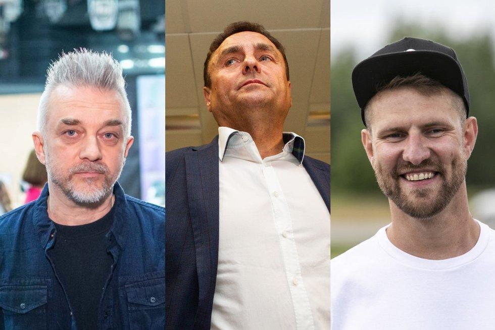 Andrius Mamontovas, Petras Gražulis, Mantas Stonkus (tv3.lt fotomontažas)
