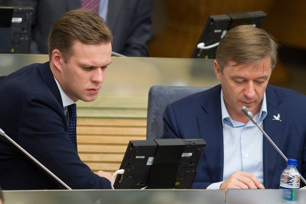 Gabrielius Landsbergis. Ramūnas Karbauskis Karolis Kavolėlis/Fotobankas nuotr.
