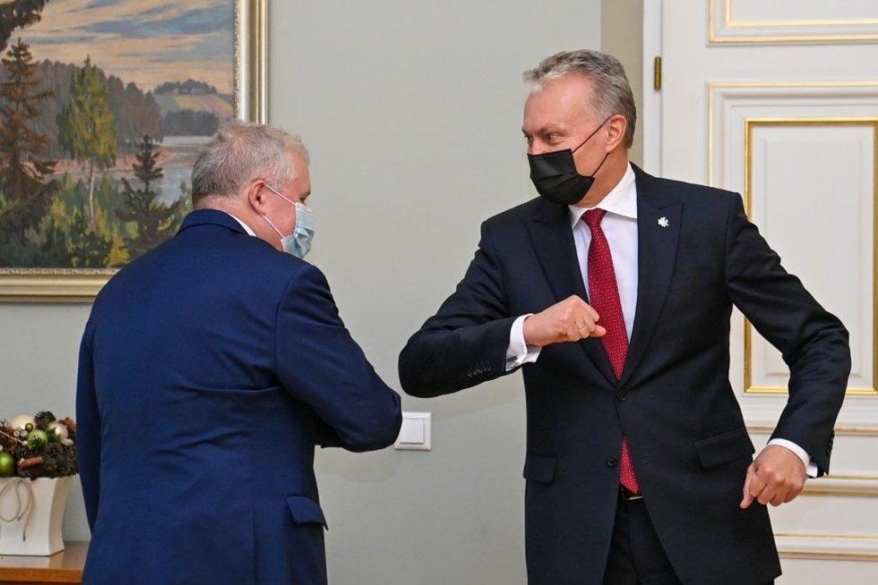 A. Anušauskas ir G. Nausėda (nuotr. Roberto Dačkaus)