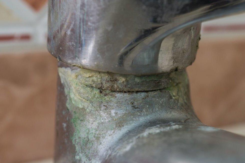 Kalkės ant vandens čiaupo (nuotr. 123rf.com)