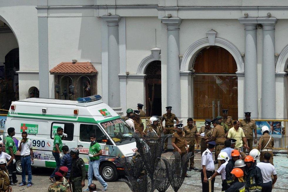 Teroristinis išpuolis Šri Lankoje (nuotr. SCANPIX)