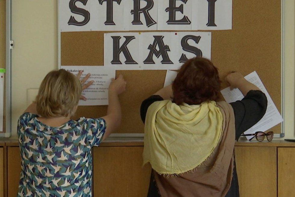 Streikas (nuotr. stop kadras)