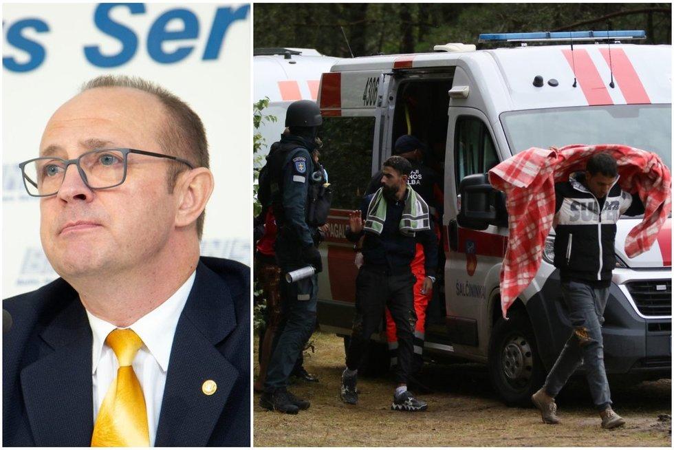 Druskininkų meras Malinauskas: greitoji nespėja važinėti pas migrantus, dalis jų simuliuoja (tv3.lt koliažas)