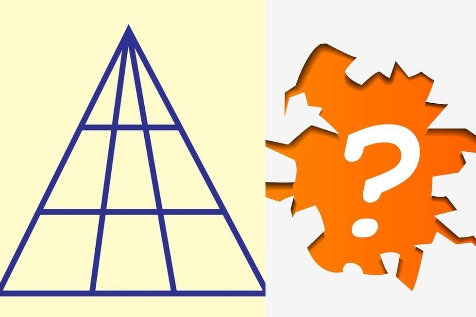 Kiek trikampių matote?