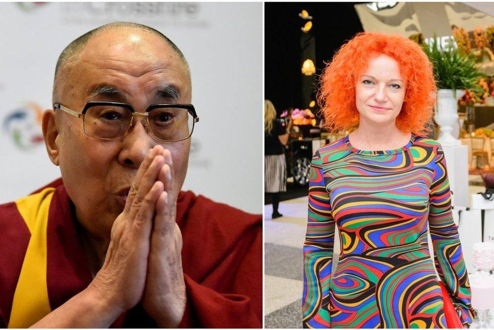 Dalai Lama ir Jolanta Svirnelytė (tv3.lt fotomontažas)