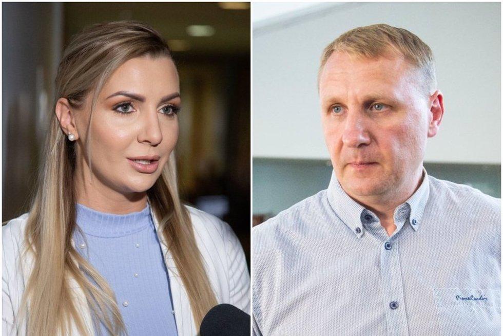 Monika Šedžiuvienė ir Andrius Šedžius (tv3.lt fotomontažas)