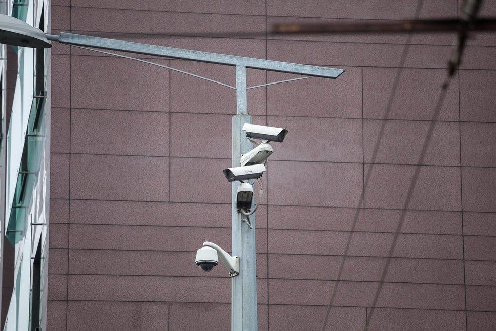 Vilniaus miesto stebėjimo kameros (nuotr. Sauliaus Žiūros)