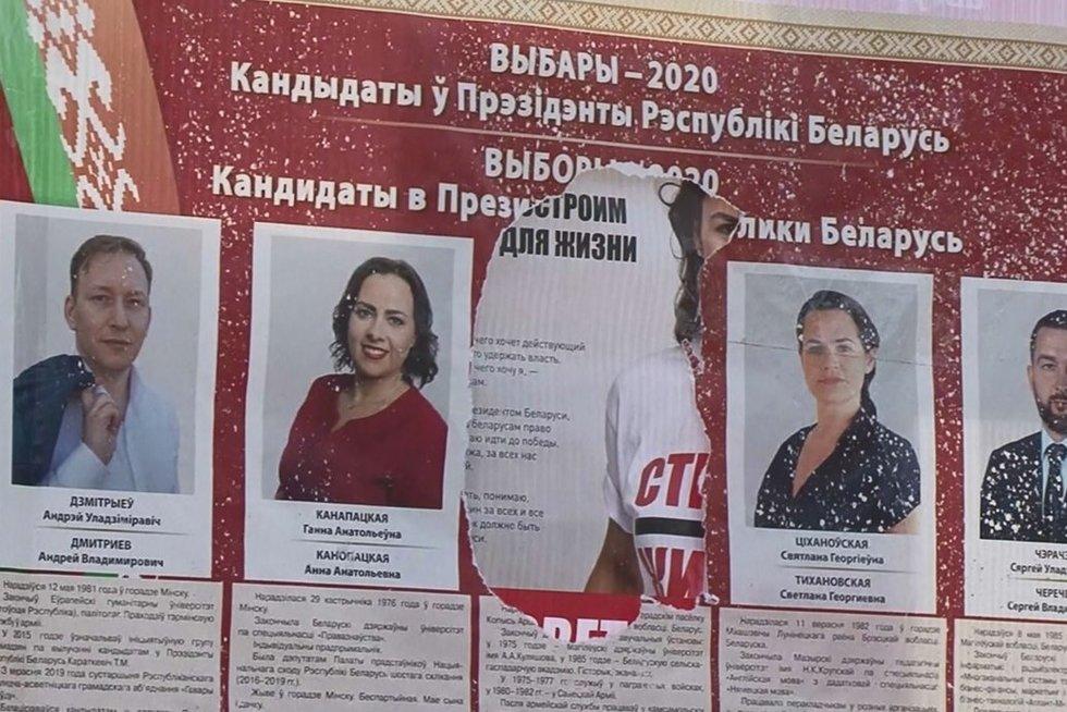 Baltarusijoje prasidėjo išankstinis balsavimas dėl šalies prezidento: pranešama apie masišką balsalapių klastojimą